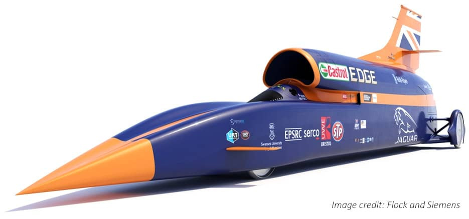 Bloodhound SSC 1000 mph land speed record contender