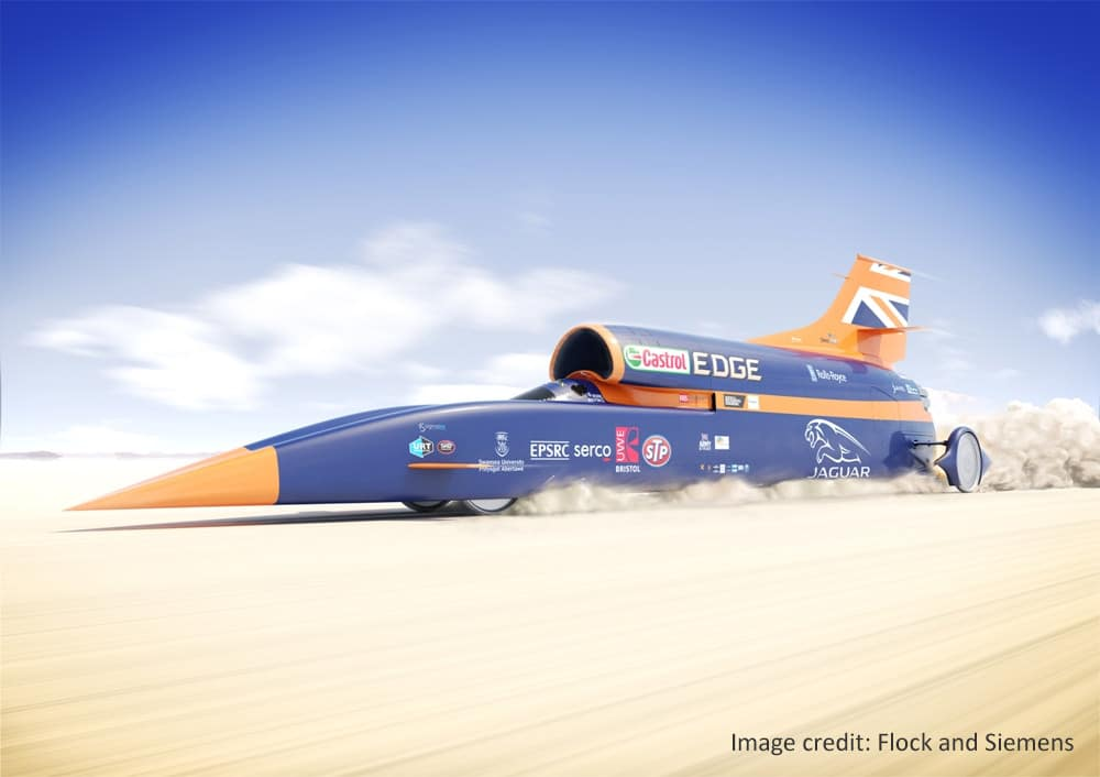 Bloodhound SSC, the supersonic car Andy Green hopes to take beyond 1000 mph