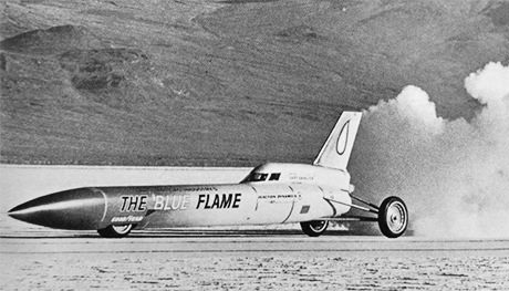 Read about Blue Flame, the land speed record car driven by Gary Gabelich