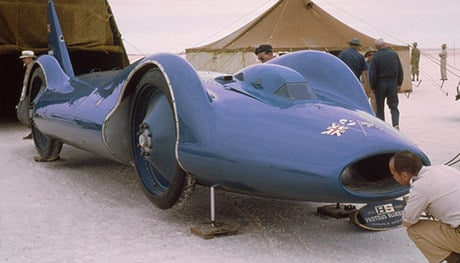 Read about Bluebird CN7, the land speed record car driven by Donald Campbell