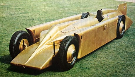 Read about Golden Arrow, the land speed record car driven by Henry Segrave