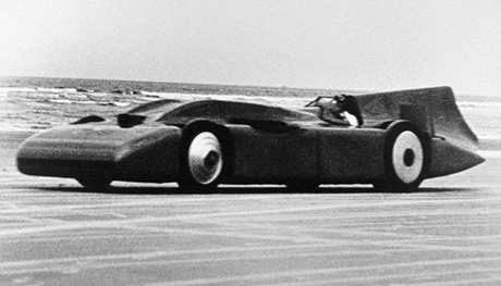 Read about Blue Bird V, the land speed record car driven by Sir Malcolm Campbell