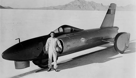Read about Spirit of America, the land speed record car driven by Craig Breedlove