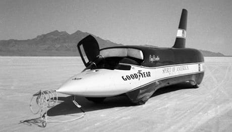 Read about Spirit of America Sonic 1, the land speed record car driven by Craig Breedlove
