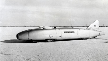 Read about Thunderbolt, the land speed record car driven by George Eyston