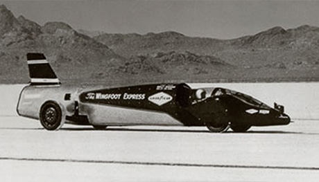 Read about Wingfoot Express, the land speed record car driven by Tom Green