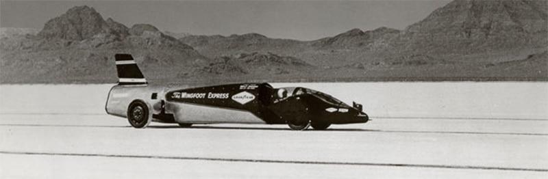 Walt Arfons first Wingfoot Express car, driven by Tom Green.