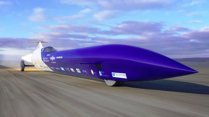 Aussie Invader 5R land speed record car driven by Rosco McGlashan